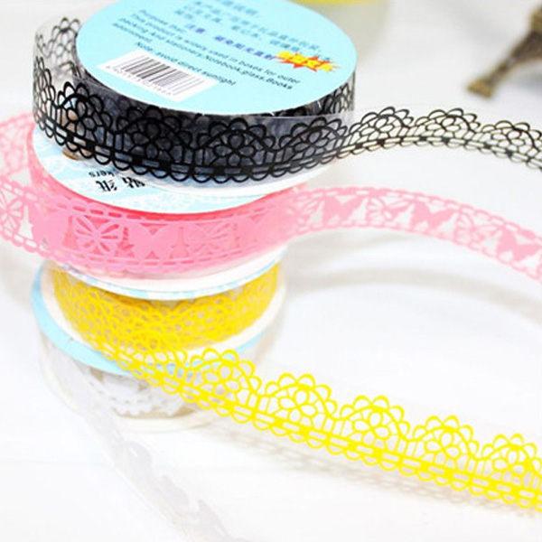 PS Mall 甜美蕾絲DIY膠帶貼紙 裝飾貼紙 蕾絲文具貼紙【QQ202】