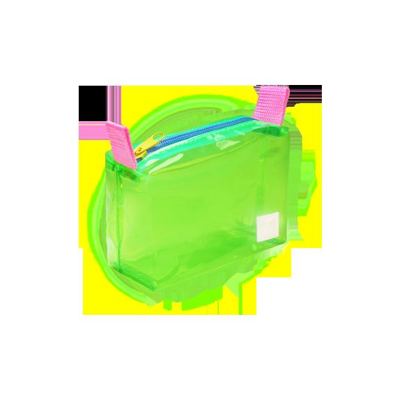 DoctorJ 透明小收納包 綠色