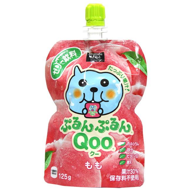 QOO吸管果凍飲-白桃 125G 六入