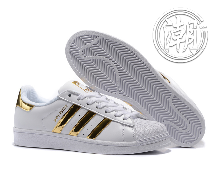 歲末出清Adidas SuperstarII 80S 街頭經典 愛迪達 金標 亮金 復古百搭 男女 情侶鞋 休閒鞋【T130】