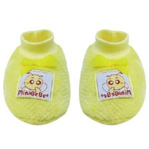 【蜜妮寶貝嬰童用品館】暖絨腳套 / 藍色、黃色、粉紅