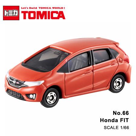 日貨 TOMICA No.66 Honda FIT 本田 真車系列 汽車模型 多美小汽車【N201350】