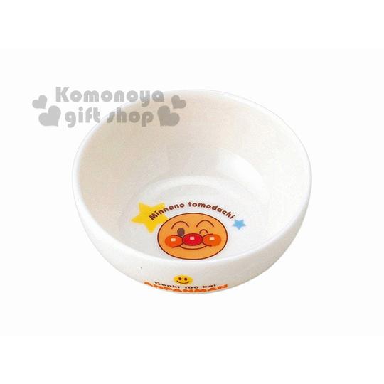 〔小禮堂〕麵包超人 日製陶瓷碗《小.白.大臉.星星.愛心》日本金正陶瓷.朋友系列