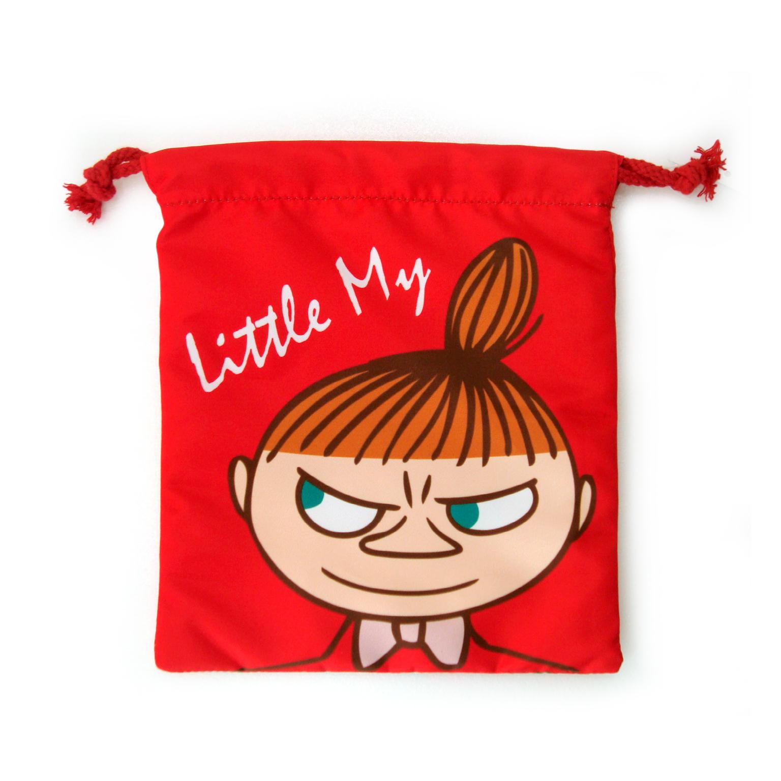 【禾宜精品】正版 Moomin 嚕嚕米 亞美(紅色) 束口袋 束口包 小提袋 時尚包 生活百貨 M102033-E