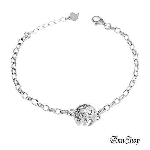 AnnShop小安的店【925純銀‧可開式大象手鍊】【單條】銀飾飾品/情人禮物 HL0063
