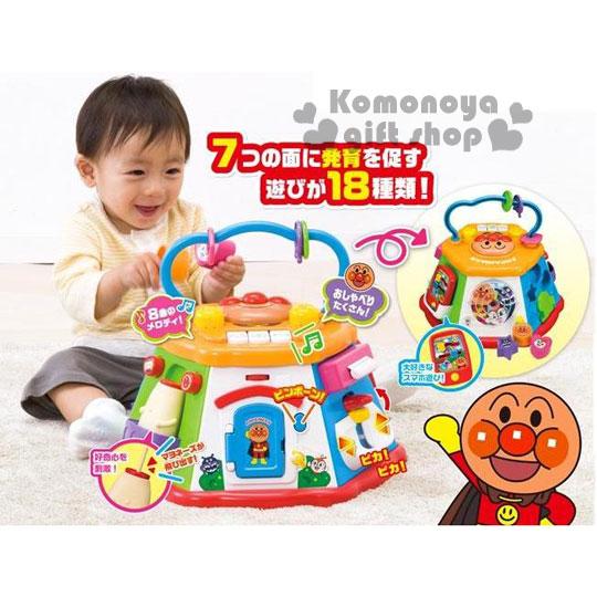 〔小禮堂嬰幼館〕麵包超人 益智玩具組《大.橘盒裝.7面.18種玩法》適合10個月以上兒童