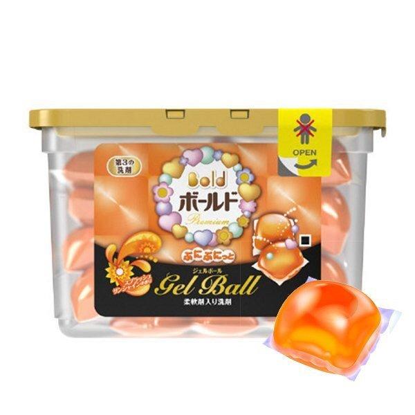 日本寶僑 P&G 雙倍洗衣凝膠球 陽光馨香(橘)18入 盒裝 *夏日微風*