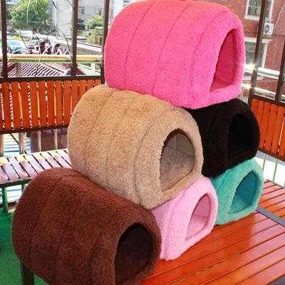 狗窩 寵物床附墊-可折疊好收納可拆洗舒適貓窩 寵物用品3色72ao24【獨家進口】【米蘭精品】