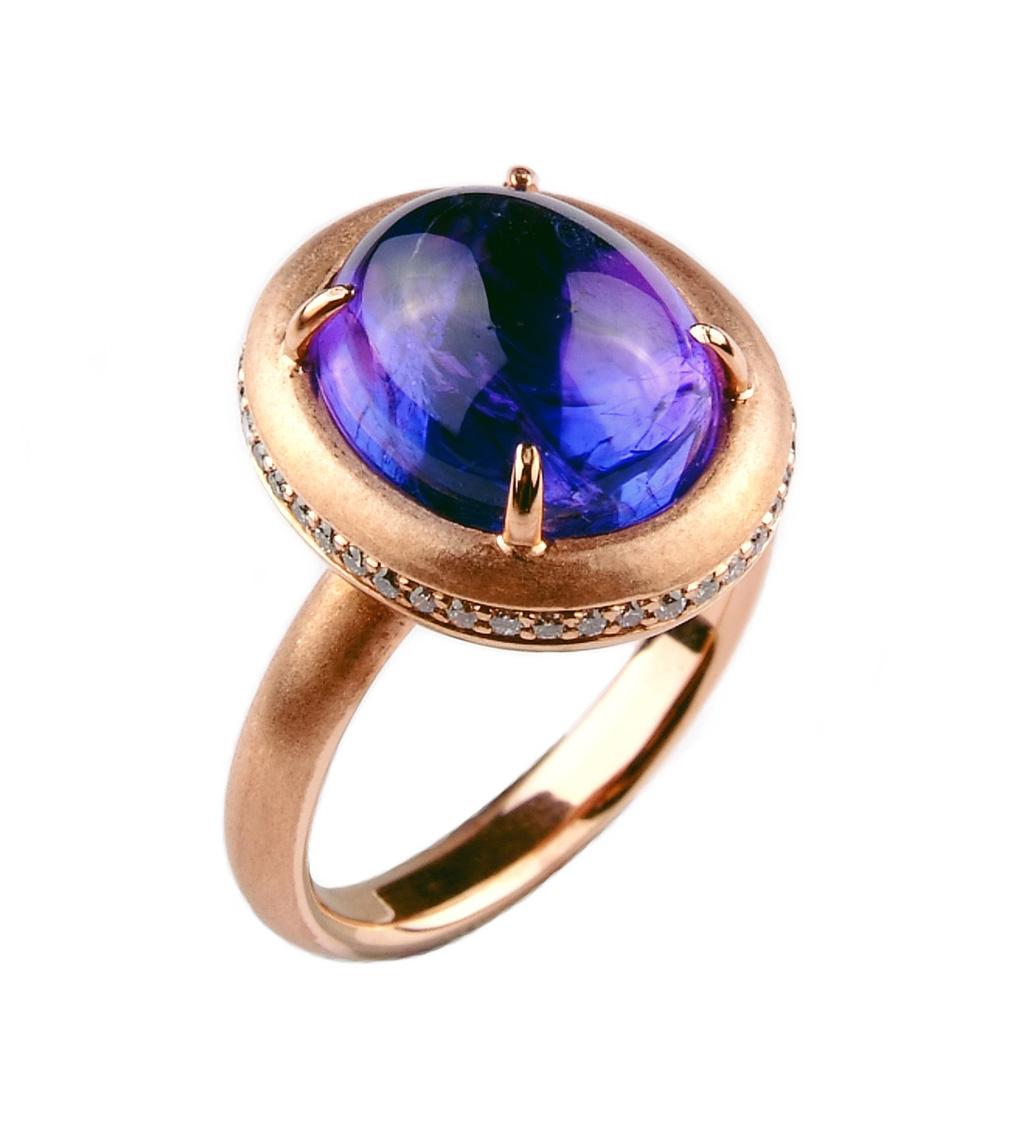 ~樂采珠寶~14k玫瑰金 滿滿-丹泉石珠寶戒指.
