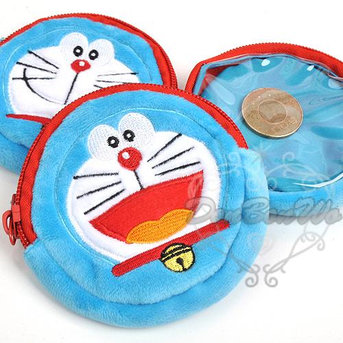 哆啦A夢小叮噹3D電影圓形半透明吊飾零錢包開口483720口袋483737海度