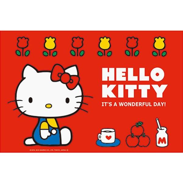 【真愛日本】16050500026野餐墊60*90cm-70年代  三麗鷗 Hello Kitty 凱蒂貓 野餐墊 餐墊