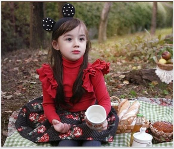 女童 珍珠米奇造型女童髮箍$69