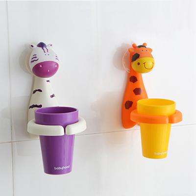 【悅兒樂婦幼用品舘】Babyhood 卡通牙刷杯架-斑馬/長頸鹿