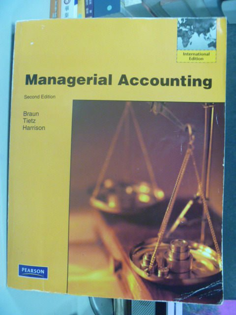 【書寶二手書T9/大學商學_PFK】Managerial Accounting_Karen