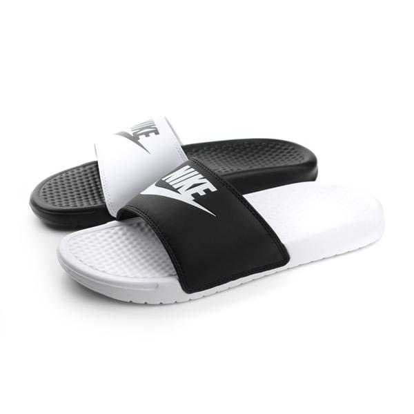 NIKE 拖鞋 女鞋 黑白色 no404