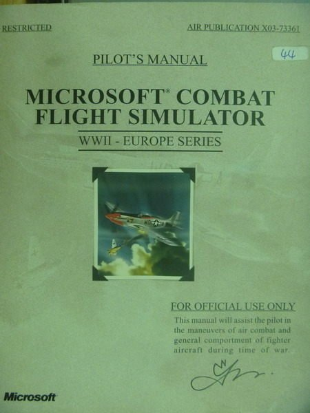 【書寶二手書T2/軍事_QIQ】Microsoft Combat Flight Simulator
