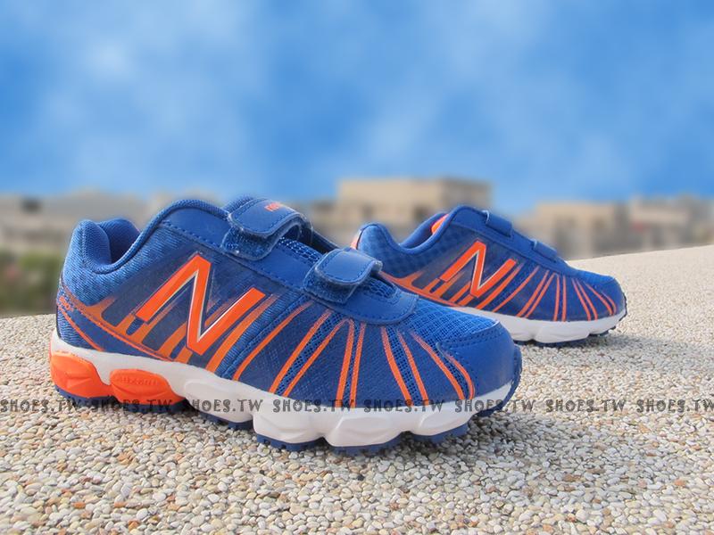 [18.5cm]《超值6折》Shoestw【KG890BOP】NEW BALANCE 慢跑鞋 童鞋 運動鞋 中童 藍橘 黏帶