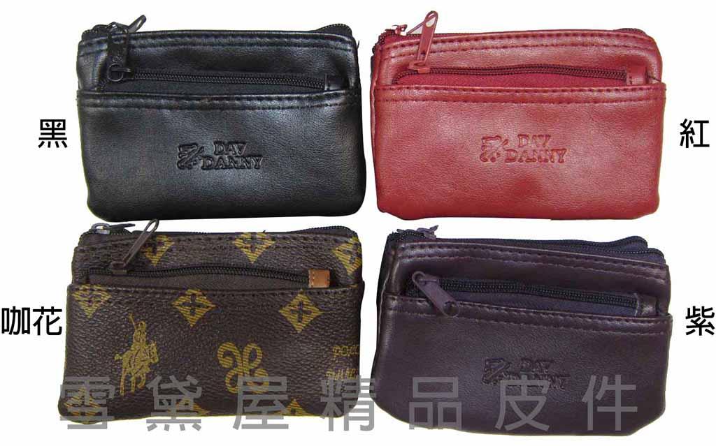 ~雪黛屋~Lian 零錢包小型容量可放信用卡三層主袋進口防水防刮皮革材質零錢鑰匙證件包男女皆適用 #1386