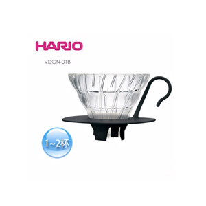 【HARIO】V60 黑色01好握玻璃濾杯