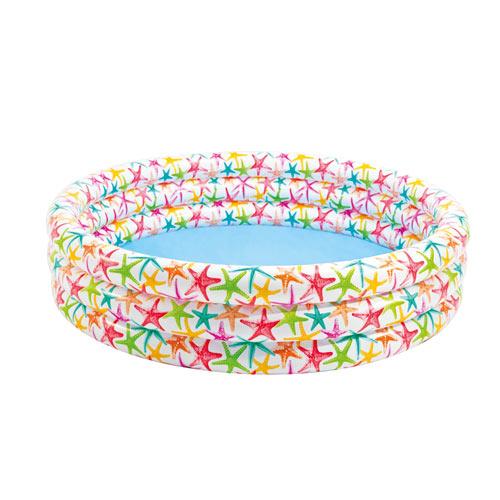 【奇買親子購物網】INTEX 海星/開心魚嬰兒充氣水池兒童游泳池