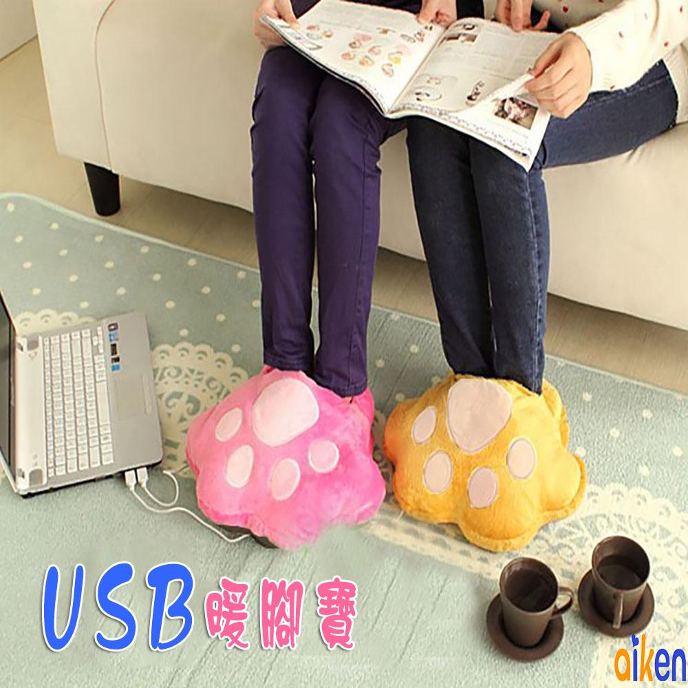 暖腳寶 USB 暖暖枕 靠枕 抱枕 充電 生日禮物 交換禮物 聖誕節 J1005-004 【艾肯居家生活館】