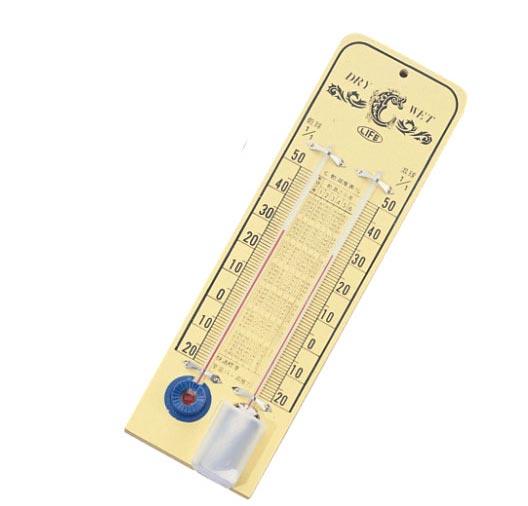 徠福LIFE木製溫溼度計NO.2474