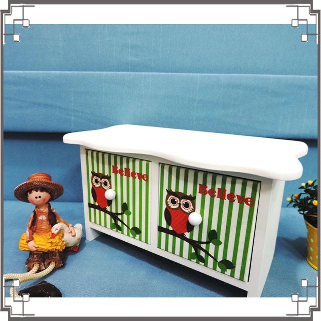↙8折↘ 洗白浪型二抽櫃《2W2》貓頭鷹桌上型二抽櫃 收納櫃 飾品珠寶盒 居家布置器◤彩虹森林◥
