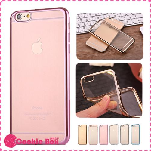 *餅乾盒子* 鍍金軟殼 iPhone 6 6S Plus 手機殼 保護殼 保護套 軟殼 TPU 電鍍 邊框 多色 玫瑰金 透明殼
