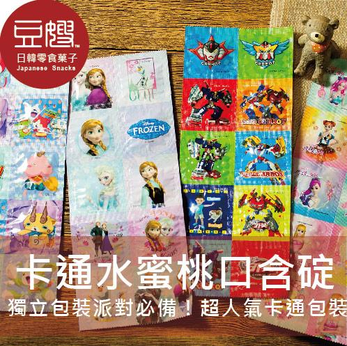 【豆嫂】韓國零食 卡通水蜜桃口含碇(冰雪奇緣/妖怪手錶/機器戰士Tobot/芭比公主)