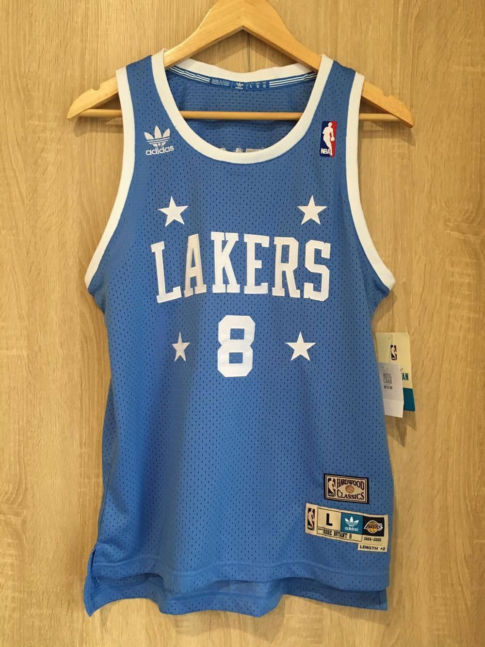 【蟹老闆】Adidas 青年版 球衣 四星藍 洛杉磯湖人Lakers 8 Kobe Bryant 黑曼巴 小飛俠 傳奇球星 NBA總冠軍MVP NBA年度MVP NBA明星賽MVP NBA得分王 男女可穿