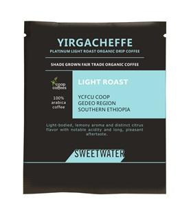 【SWEETWATER】耶加雪夫白金淺焙有機咖啡豆--掛耳式