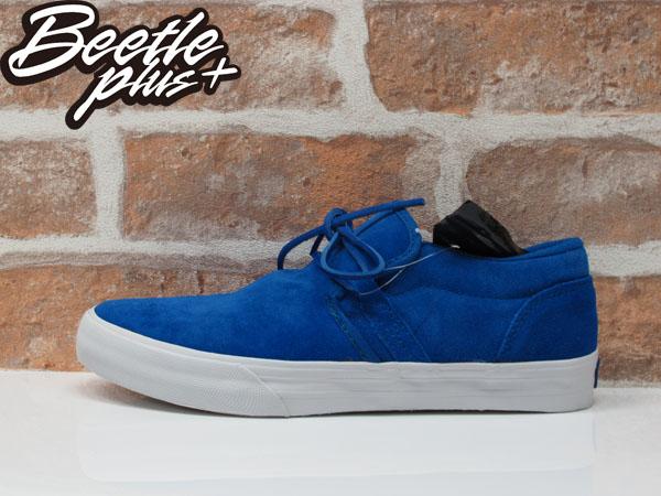 BEETLE PLUS 全新 SUPRA CUBAN 藍白 黑白 板鞋 懶人鞋 ROYAL BLUE 麂皮 S29043