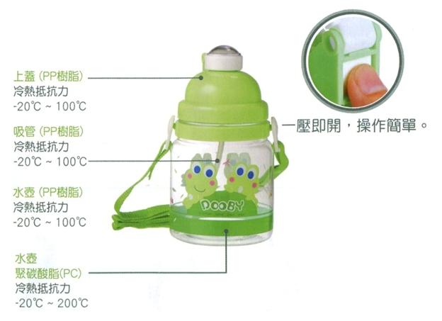 大眼蛙 PC彈跳吸管水壺550c.c.