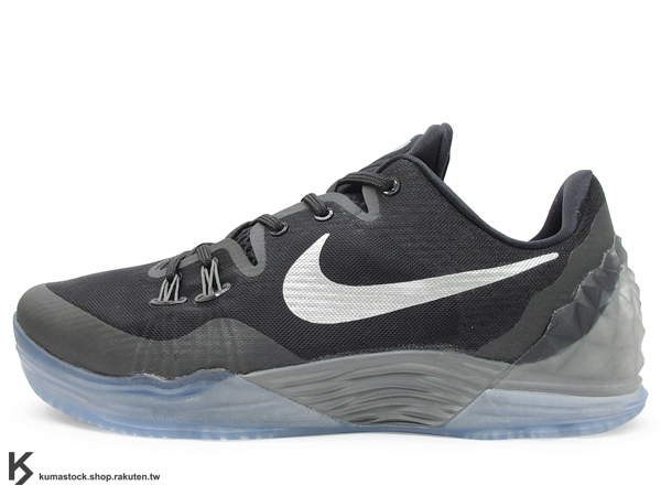 [27.5cm] 2015 最新款 KOBE BRYANT 子系列 戶外籃球鞋 NIKE ZOOM KOBE VENOMENON V 5 EP 低筒 五代 全黑 黑銀勾 毒液 前 後 ZOOM AIR 氣墊 耐磨橡膠外底 籃球鞋 (815757-001) !