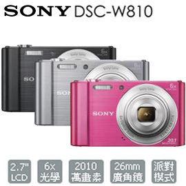 【集雅社】 SONY DSC-W810 數位相機 公司貨 ★加碼送原廠攜行包等好禮 w810