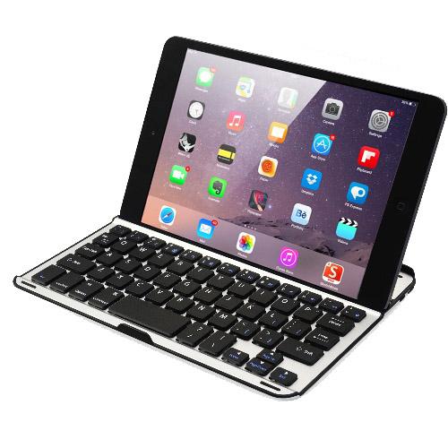 iPad Mini / 2 / 3 專用超薄型鋁合金藍牙鍵盤/保護殼.
