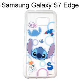 迪士尼透明軟殼 [形狀] 史迪奇 Samsung G935FD Galaxy S7 Edge【Disney正版授權】