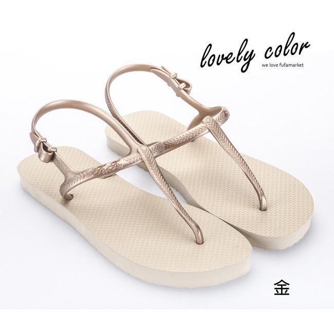 海灘涼鞋 [與你時尚]富發牌多彩多姿夾腳 海灘涼鞋