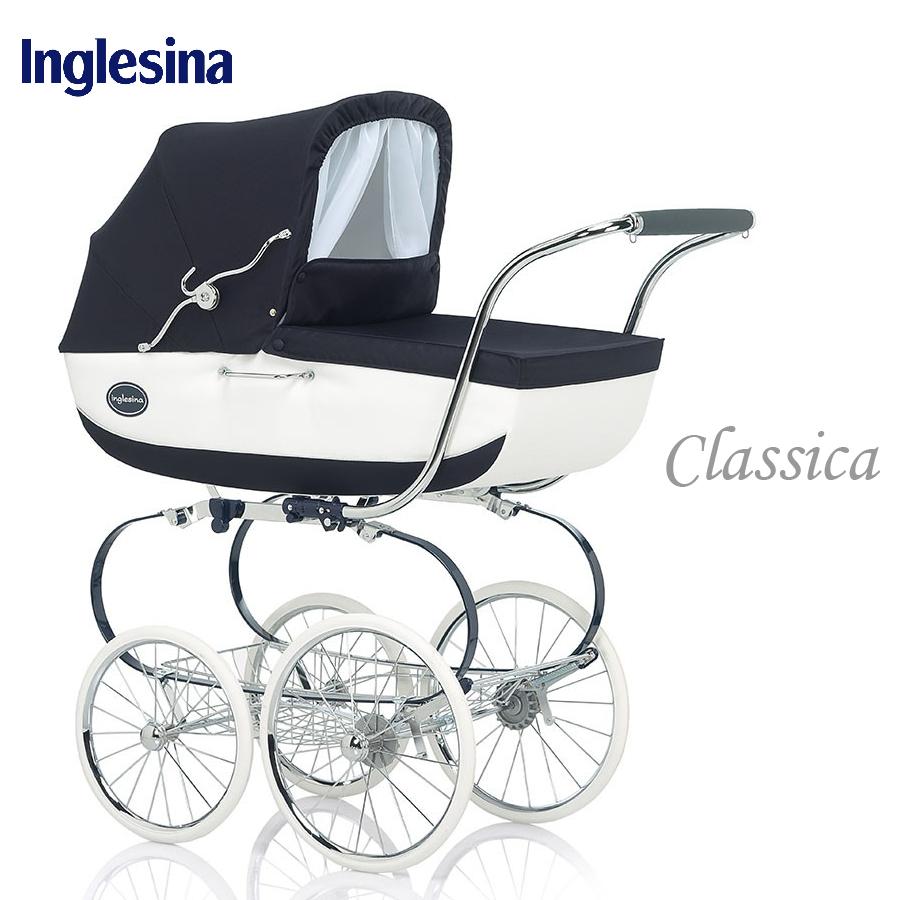 【含睡箱+媽咪包】義大利【Inglesina 英吉利那】Classica 皇家經典多功能嬰兒推車- 海軍藍