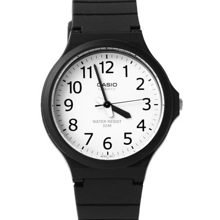 CASIO卡西歐經典黑白手錶 大錶框清晰數字面板設計 防水50米 柒彩年代【NE1887】原廠公司貨