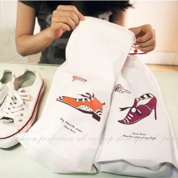 鞋子收納袋-大(2入)束口袋 防水收納 旅行收納束口袋組合 防水防潮鞋袋【GL358】◎123便利屋◎