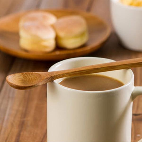 日本MAKINOU 湯匙|日本和風一口點心小竹匙| 微笑布丁匙 圓勺 環保餐具 牧野丁丁MAKINOU