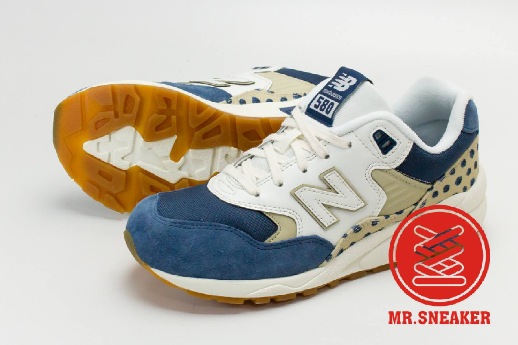 ☆Mr.Sneaker☆ NEW BALANCE WRT580 海軍藍 KITCH FLORAL 波爾卡點