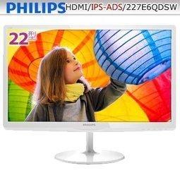 飛利浦 PHILIPS 22吋 電腦螢幕 IPS寬螢幕 (MHL-HDMI/DVI/D-sub) 227E6QDSW