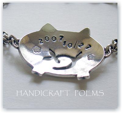 十二生肖手工925純銀彌月飾品~豬屁屁(小豬手鍊)~手作的詩Baby Jewelry,雖非金飾,但可客製化英數打印,寶寶第一件純銀飾,幸福中!