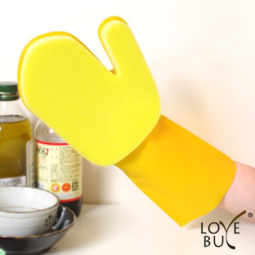 【Love Buy】汽機車專用海綿清潔手套_單入裝