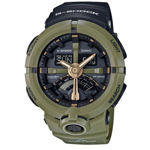 CASIO G-SHOCK 城市地標風格運動腕錶/GA-500P-3A