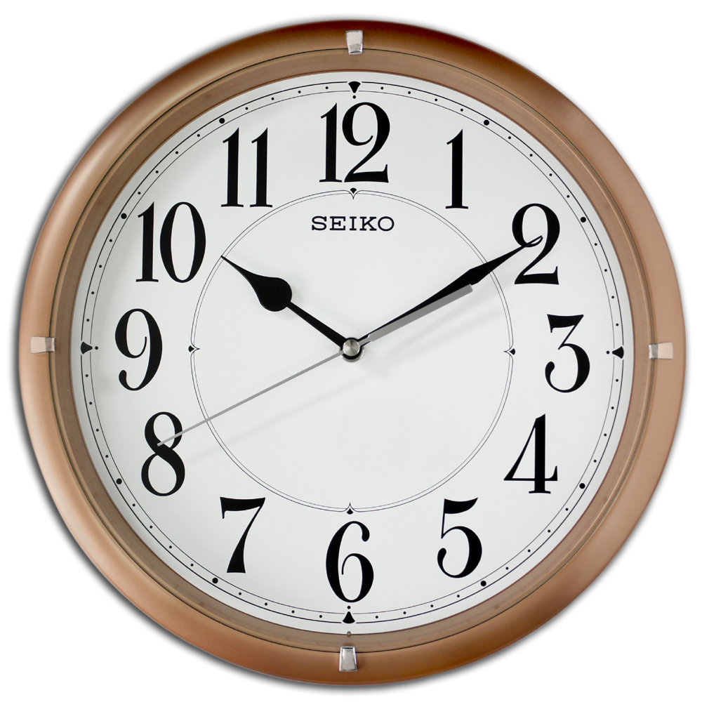 SEIKO 日本精工QXA637P 簡約美學居家靜音滑動式秒針掛鐘