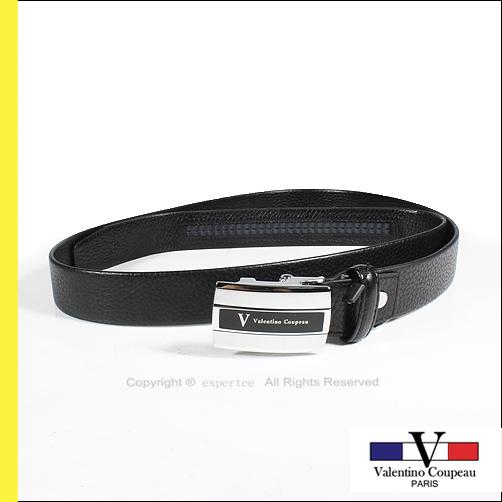 請先詢問庫存【騷包館】Valentino范倫鐵諾 法國品牌 銀牌荔枝牛皮紋自動皮帶 VV-127-5