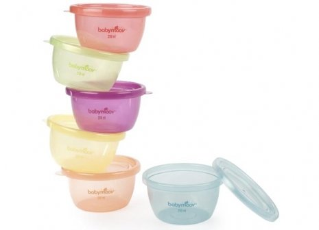 法國【Babymoov】嬰兒食物保存碗(6入)
